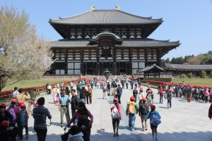Todai-ji Temple is Japan scared place and the landmark of Nara