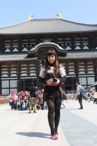 Me in front of Todai-ji temple