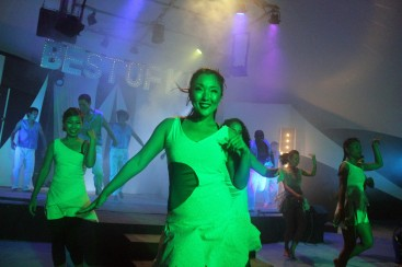 GO performing at the night party
