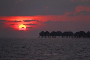 Sunset into India Ocean
