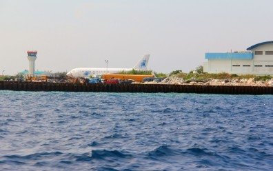Maldive international airport. A separate island for an airport